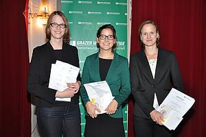 Andrea Ploder (3. Platz), Katharina Imp (1. Platz) und Veronika Richter (2. Platz)