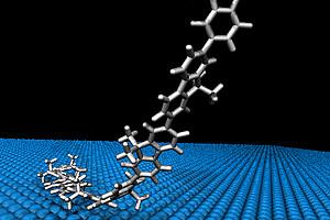 Sensationelles Experiment: ChemikerInnen der Uni Graz lösten eine Polymer-Kette von einer Oberfläche. Foto: Grill
