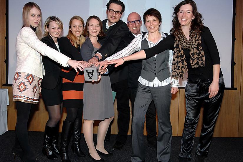 Das Team des Webradios freute sich über den Inge-Morath-Sonderpreis.