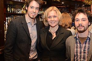 Lukas Grumet (links) und Christian Fercher mit Rechtsinformatikerin Elisabeth Staudegger Fotos: Markus Grollitsch