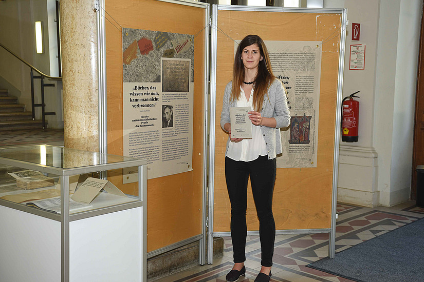 Ausstellungskuratorin Susanne Korbel vom Centrum für Jüdische Studien