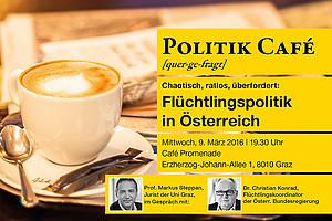 Im Politik Cafè ist Flüchtlingskoordinator Christian Konrad zu Gast.