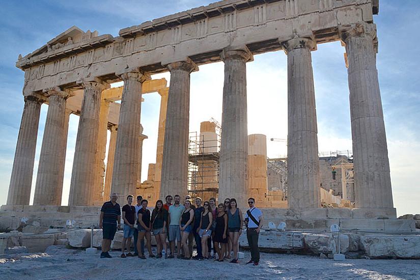 Was beeinflusst Demokratie? Studierende erforschten diese Frage auf einer Exkursion nach Mazedonien und Griechenland. Alle Fotos: Lena Pirzl.