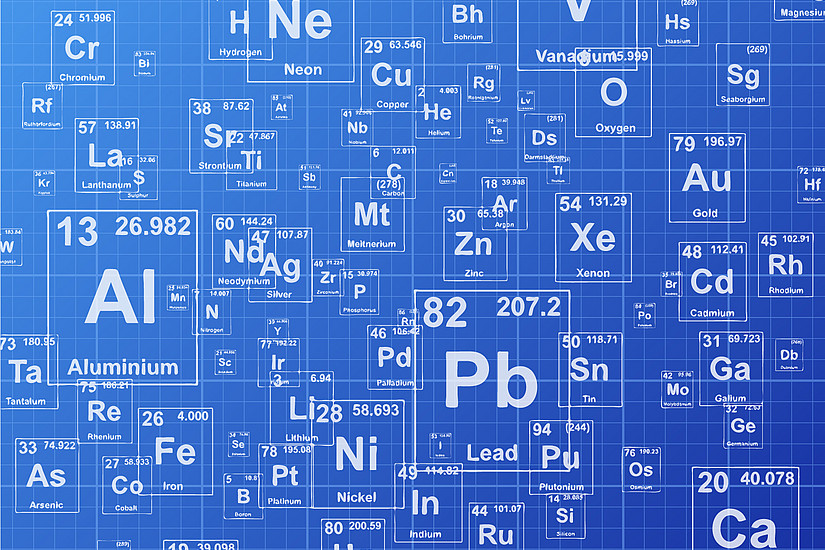 118 Elemente sind derzeit im Periodensystem. Foto: shutterstock.com/Jason Winter
