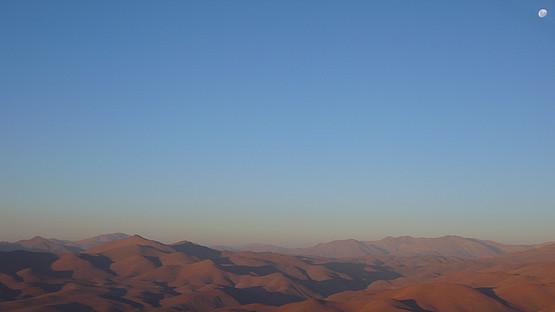 Blick vom ersten Beobachtungsstandort der ESO, LaSilla/Chile am 13/02/2014