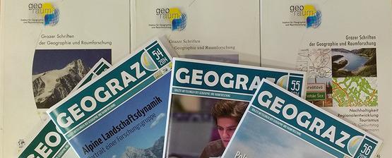 Unsere Schriftreihen: GEOGRAZ & Grazer Schriften der Geographie und Raumforschung