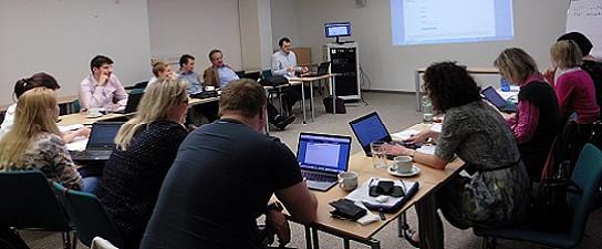 Workshop der ProjektpartnerInnen aus Österreich, Lettland, Litauen, Bulgarien, Italien und Tschechien. Foto: Verena Gschweitl