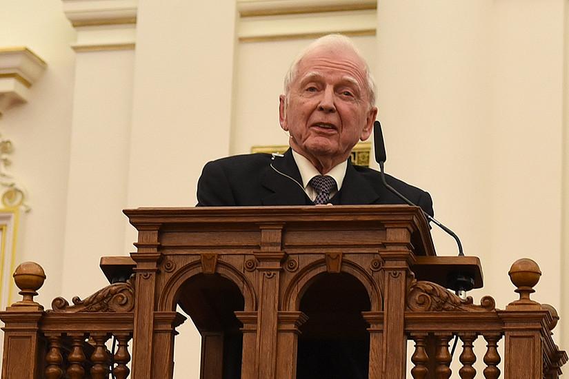 Nobelpreisträger Harald zur Hausen hielt die erste Nobel Lecture von BioTechMed-Graz.