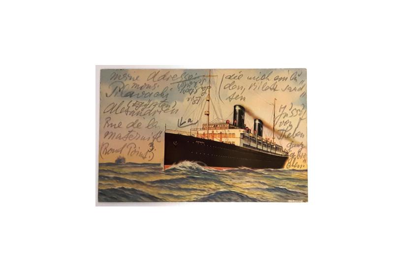 Postkarte Lasker-Schülers an Hugo Bergmann, 1934 (© INBJ)