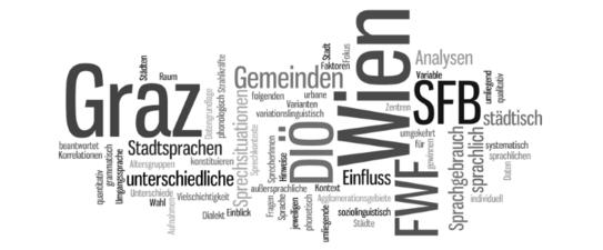 """Stadtsprachen als Teil des SFB """"Deutsch in Österreich"""""""