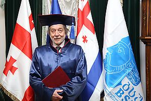 Am 28. Oktober 2019 wurde Karl Kaser das Ehrendoktorats an der Universität Batumi/Georgien verliehen. Foto: Universität Batumi.