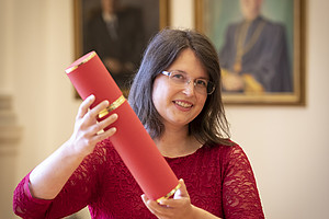 Sub-Auspiciis-Promovendin Petra Hödl. Fotos: Uni Graz/Lunghammer.