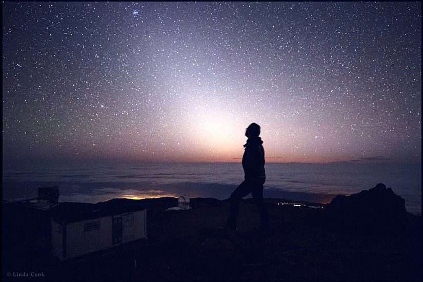 Paul Beck am Observatorium auf La Palma. (Foto: Babak Tafreshi, TWAN)