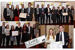Lehrpreis mal vier: innovative und qualitätsvolle Lehrveranstaltungen wurden ausgezeichnet: Fotos: Uni Graz/Schweiger, Tzivanopoulos