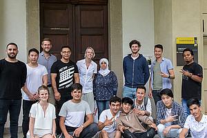 Jugendliche mit Fluchterfahrung besuchten das Institut für Personalpolitik der Uni Graz sowie den Campus. Fotos: Elena Glauninger.
