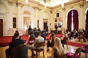 Startschuss für Sponsionen und Promotionen in der Aula. Foto: Uni Graz/Schweiger