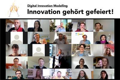 Virtueller Abschluss des Universitätskurses Digital Innovation Modelling