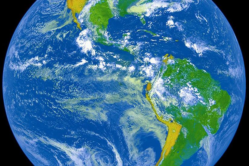 Erdkugel aus dem Weltall gesehen. Foto: pixabay