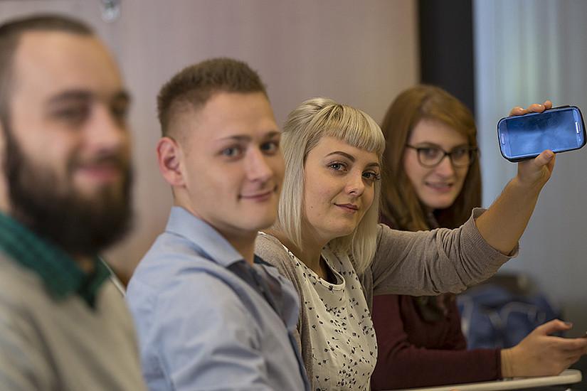 Bevor's in den Hörsaal geht, zur Lehrveranstaltung anmelden. Foto: Uni Graz/Lunghammer