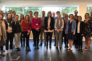 VertreterInnen aller sieben Universitäten der Arqus-Allianz trafen sich in Brüssel für den gemeinsamen Auftakt zur Zusammenarbeit. Foto: Uni Granada.