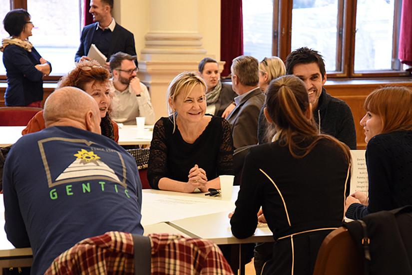Teilnehmende des Workshops kamen aus verschiedenen Fachrichtungen. Foto: Uni Graz/Leljak.