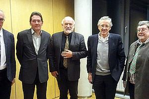 Richard Sturn, Klaus Kraemer, Heinz D. Kurz, Reinhard Schmidt, Peter Steiner (v.l.)