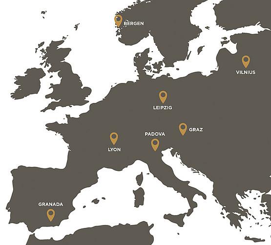 Sieben Universitäten beschreiben einen Bogen quer durch Europa und koopieren in Zukunft in vielen Bereichen uneingeschränkt.