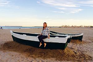 Die angehende Betriebswirtin Anna Schiffbänker zog es für ein Jahr nach Valencia. Fotos: Schiffbaenker