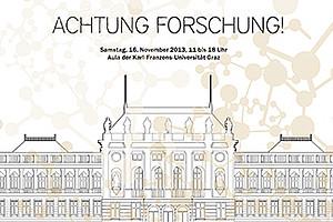 Ein vielfältiges Programm erwartet die BesucherInnen am 16. November 2013 an der Uni Graz.