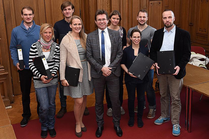 Zum Start des Tages der Lehre begrüßte traditionellerweise Vizerektor Polaschek neue Lehrende an der Uni Graz.