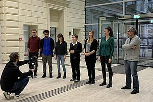 Sieben Testimonials erwecken Arqus im Imagevideo zum Leben. Foto: Uni Graz/Leljak.