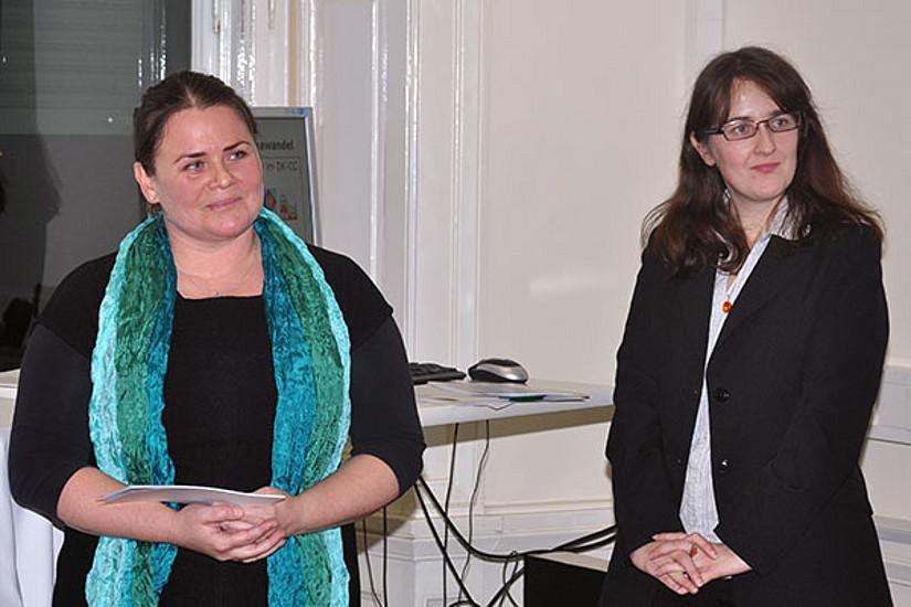 DK-Koordinatorin Bettina Lackner und DK-Managerin Regina Brunnhofer (v.l.)