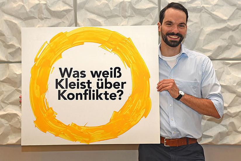 Was uns Heinrich von Kleist über die Eskalation von Konflikten erzählen kann, weiß Germanist Michael Ackerl. Foto: Uni Graz/Leljak.