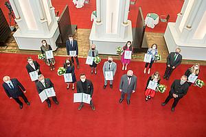 In der Aula der Alten Universität wurden am 12. Mai 2021 die Josef Krainer-Preise 2020 überreicht.  Foto: Land Steiermark/Fischer.