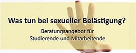 Beratungsangebot bei sexueller Belästigung für Studierende und Mitarbeitende