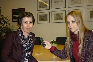 URBI-Dekanin Barbara Gasteiger-Klicpera im Gespräch mit Webradio-Mitarbeiterin Mag. Michaela Schirnhofer.