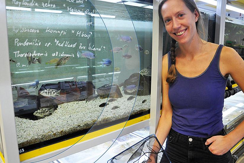 Evolutionsbiologin Angelika Ziegelbecker ist vom Nutzen einer strukturierten Doktoratsausbildung überzeugt. Beim Doctoral Academy Day gibt sie Einblicke in ihre Forschung. Foto: Uni Graz/Schweiger