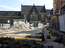 Maastricht Central Station under construction
