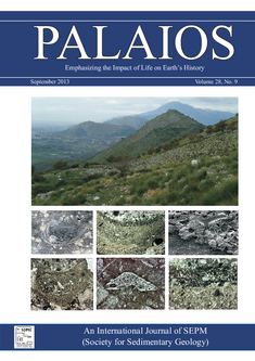 Psammobiontic sponges from the Central Apennines (Reuter et al. 2013) on the Palaios cover.