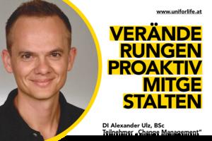 DI Alexander Ulz, BSc; Partizipationsmöglichkeit in der Curricula-Kommission