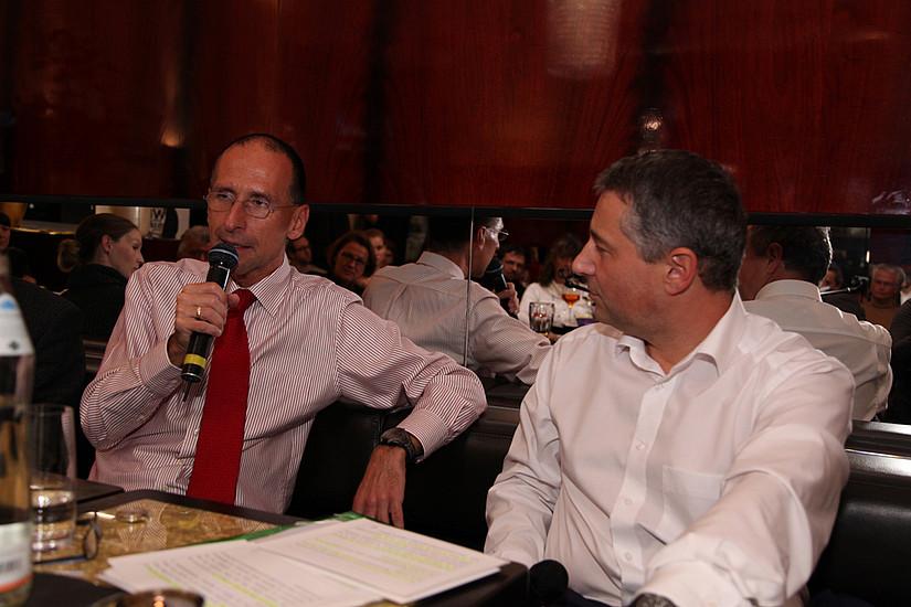Peter Filzmaier und Markus Steppan am Tisch