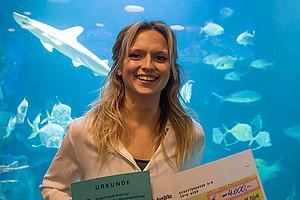 Sandra Bračun, Zoologie-Absolventin der Uni Graz, erhielt den Rupert-Riedl-Preis zur Förderung der Meeresforschung in Österreich 2016. Foto: Maximilian Wagner