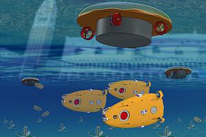 Die ersten subCULTron-Prototypen werden von 15. bis 16.Oktober 2015 auf der EXPO 2015 am Standort Venedig erstmals der Öffentlichkeit vorgestellt. Foto: Artificial Life Lab der Uni Graz