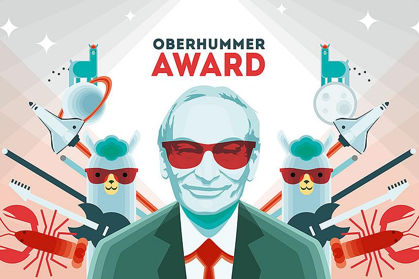Heinz Oberhummer, ein Absolvent der Universität Graz, war Physiker, Lehrer, Aufklärer, Autor populärwissenschaftlicher Bücher, Kabarettist und Science Buster. Grafik: Büro Alba