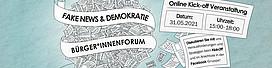 Logo, Veranstaltung, Fake News, Demokratie