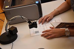 645 BewerberInnen stellen sich dem Aufnahmetest für das Psychologie-Studium. Foto: Uni Graz/Tzivanopoulos