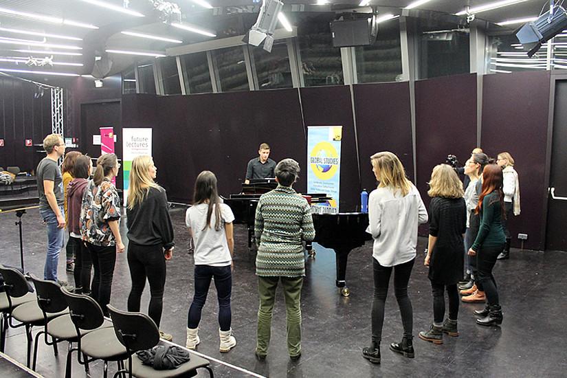 Die Future Lecture 2019 fragte danach, wie Musik und Nachhaltigkeit zusammenpassen. Foto: Uni Graz.