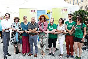 Sie packen's gemeinsam an, für mehr Nachhaltigkeit: VertreterInnen aus der Wissenschaft und Politik. Alle Fotos: Fair Tag Styria.