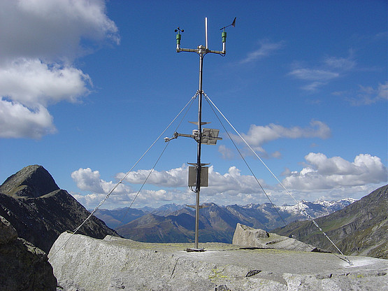 Several permanently installed and mobile automatic weather stations
