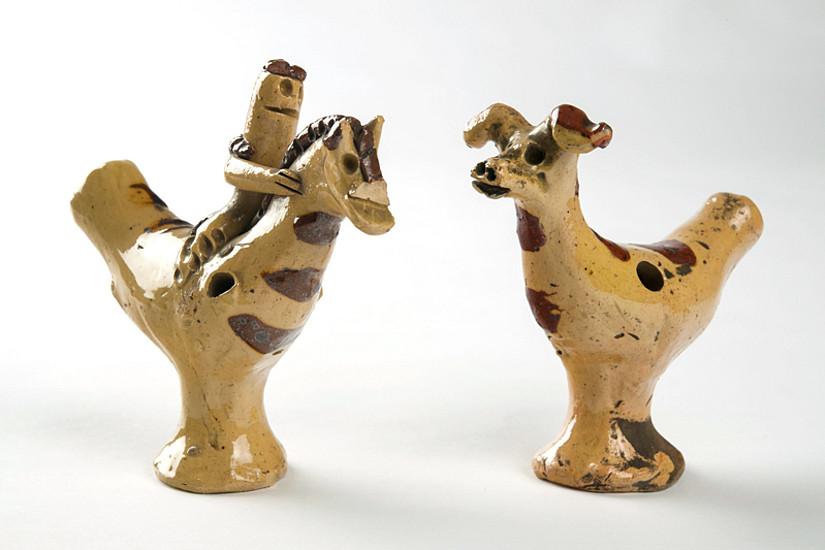 Wertvolle Kunstgüter aus der Meringer Sammlung, wie zum Beispiel diese Tonpfeifchen ...